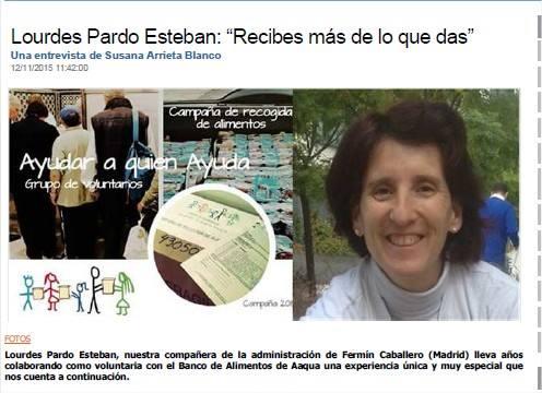 entrevista a Lourdes Pardo Esteban