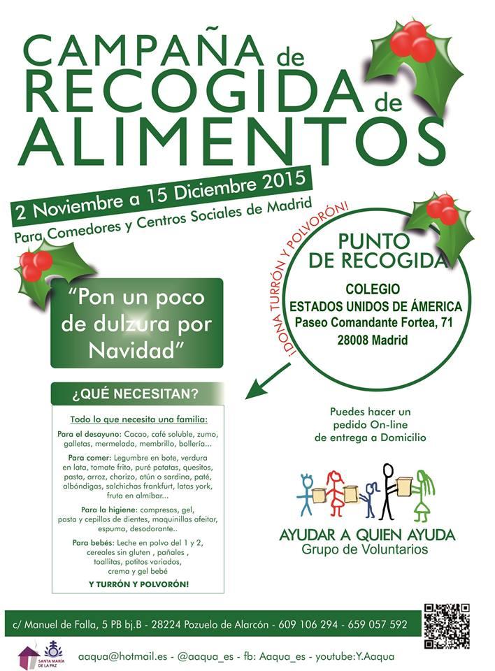 colegio EEUU DE América dona alimentos a Aaqua