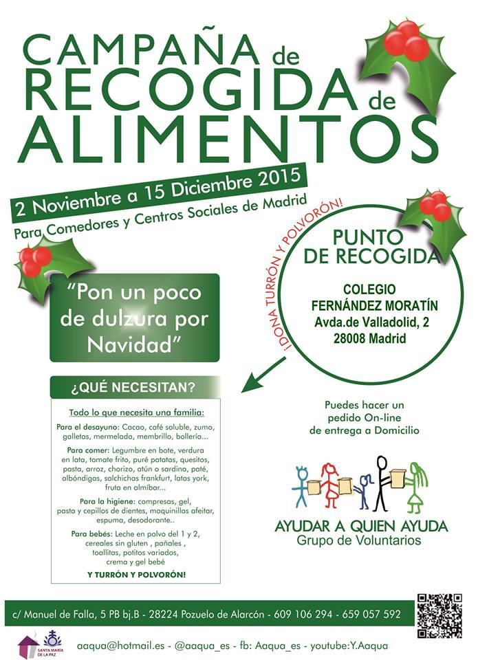 CEIP Fernández Moratín dona alimentos a Aaqua