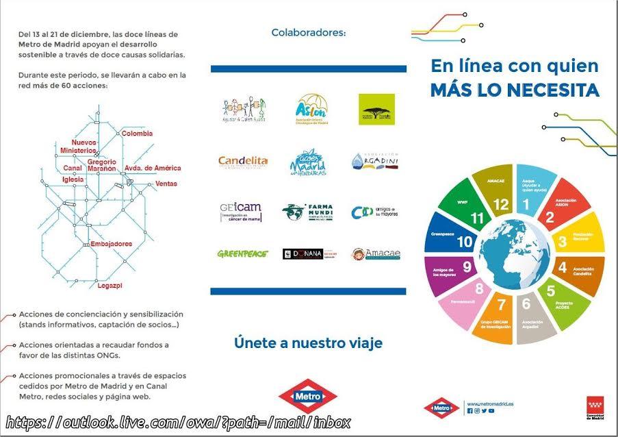 Campaña de navidad de Metro de Madrid