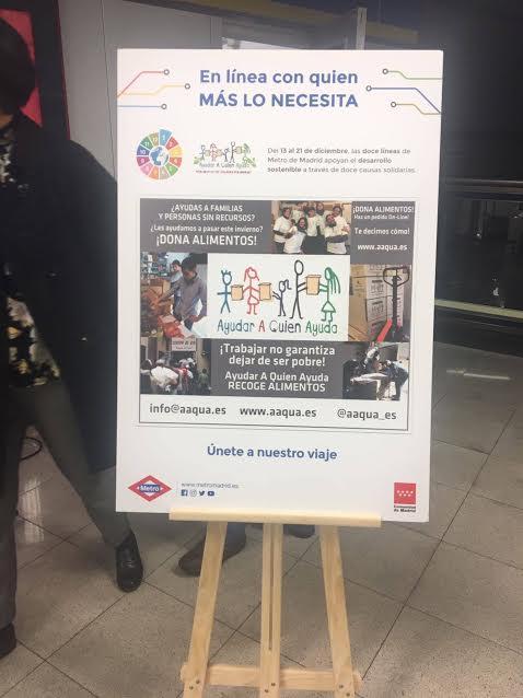 Cartel de la Campaña de Navidad de Metro de Madrid