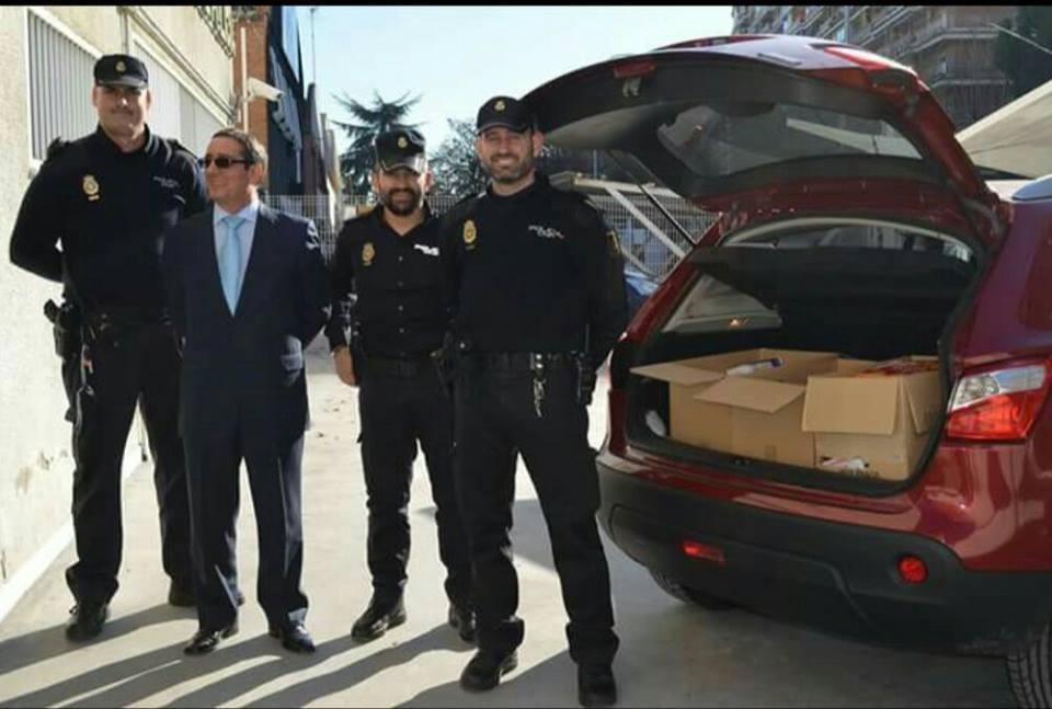Donación de la Policia Nacional en la Campaña de Navidad 2018