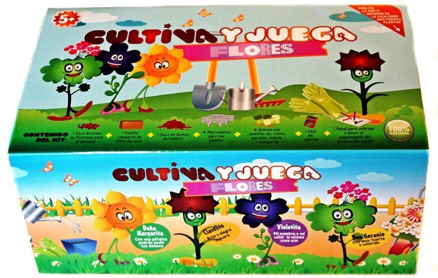 juega y cultiva, modelo flores