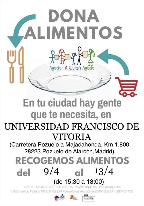 La UFV dona alimentos para AAQUA